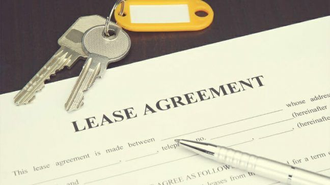 Lease Agreement Paper with Keys