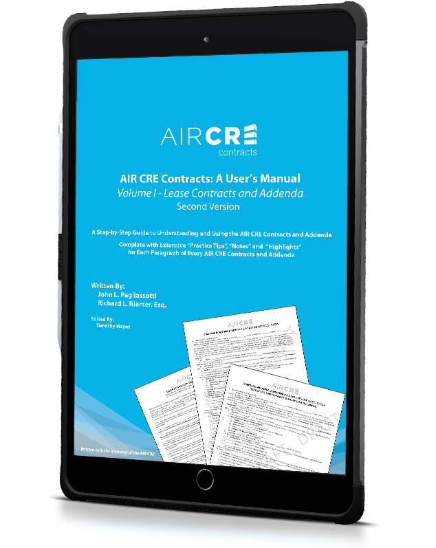 AIR CR Contracts User Manual Mockup