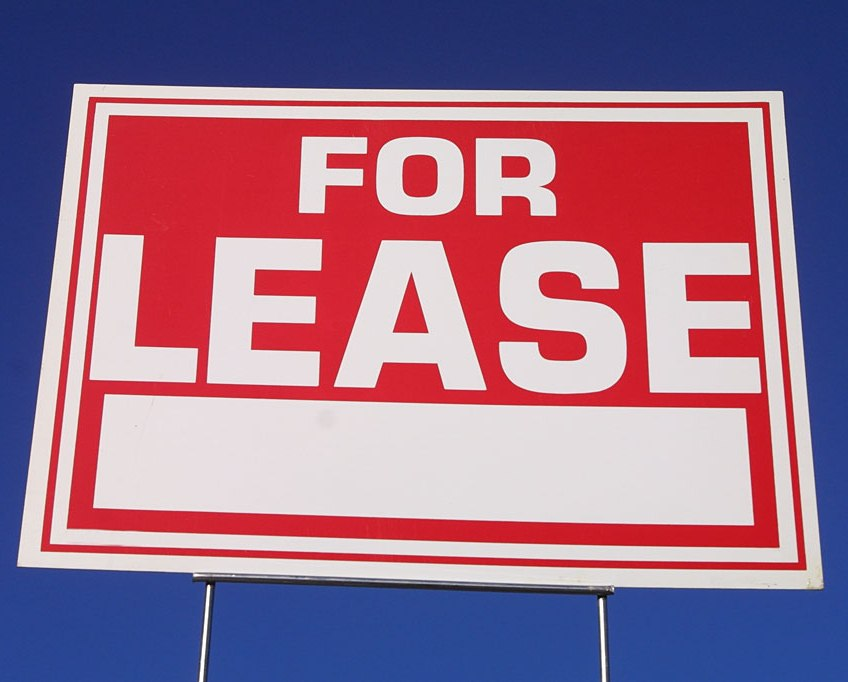 Red For Lease Sign